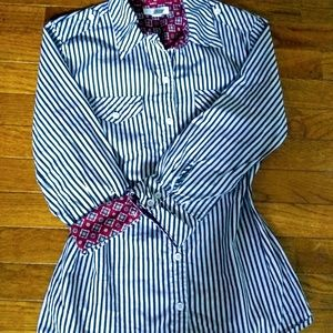 CHARTER CLUBE 100% cotton blouse